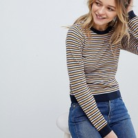 Monki Multi Stripe Knit Top at asos.com