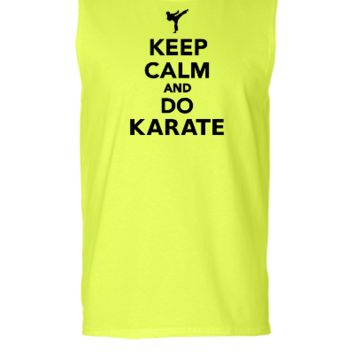 keep calm and do karate - Sleeveless T-shirt