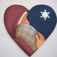 Mary and Baby Jesus Ornament or Magnet Tole Painted