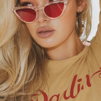 Felicity Sunglasses Clear/Red