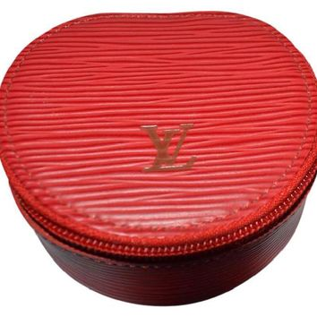 Louis Vuitton Ecrin Bijoux Red Epi Leather Jewelry Case 5030
