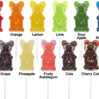 Giant Gummy Bear On A Stick Cherry 8.5 oz.