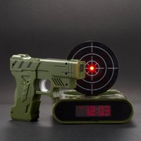 Amazon.com: Newest Lock N' load Gun alarm colck/target alarm clock/creative clock: Electronics