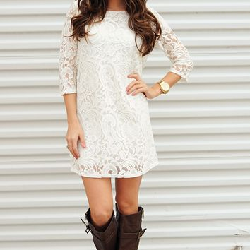 EVERLY: Give Me A Reason Dress: White