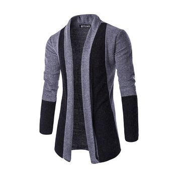 Brand Fashion Men Sweater Cardigan Masculino Slim Fit Casual Long Sleeve Cardigan Outerwear With Shawl Collar B3220