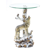Zingz & Thingz Howling Wolf End Table