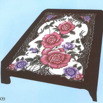 Burgundy Flower El Toro Queen Blanket - Free Shipping in the Continental US!