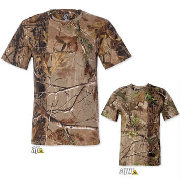 Mens Realtree Camo T-Shirt S-2XL Camouflage Bow Hunting Tee 3980 NEW