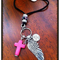Car Accessories, Rearview Mirror Charm, Keychian, Cowgirl Keychain, Christian Rear View Mirror Charm