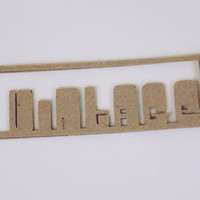 """Kraft """"Vintage"""" Product Tags -- Qty 20 Tags -- Shadow Text Cutout Design -- Homemade Paper Goods -- Custom Sizes and Shapes Available"""