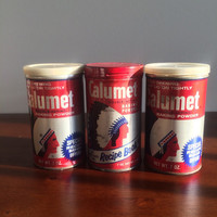 Vintage Calumet Tin Collection Set Three General Foods White Plains NY