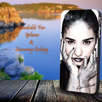 Beautiful Demi Lovato - Print on hard plastic for iPhone case. Please choose the option.