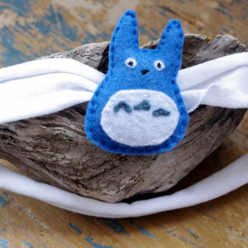 Blue Totoro Inspired Felt Plush Headband