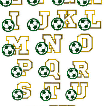Soccer font embroidery design. Sports font. Footbal font. Sports font with soccer ball. Soccer mum gift. Soccer monogram. Boys font.