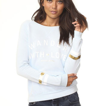 Wander With Love Sweatshirt Frost Blue