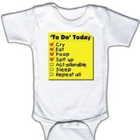 To do today - Funny Baby One-piece Bodysuit, 3-6 Mo