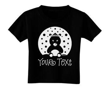 Personalized Matching Polar Bear Family Design - Your Text Toddler T-Shirt Dark