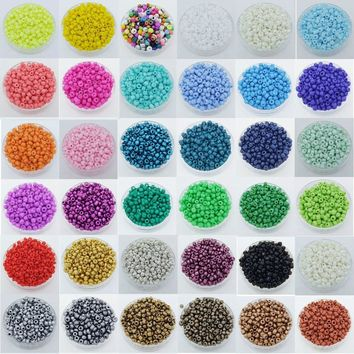1000pcs Round Opaque Lot Colorful Glass Seed Beads Jewelry Making