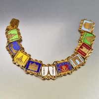 Terrific Paris France Enamel Souvenir Bracelet