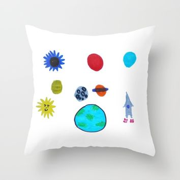 MY SPACE Throw Pillow by Azima