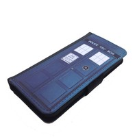Tardis Doctor Who Iphone 6 plus (5.5-Inch) wallet case black flip case for iPhone 6 +