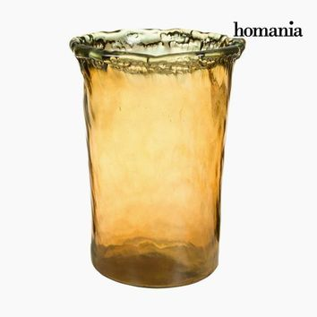 Vase made from recycled glass Amber - Pure Crystal Deco Collection by Homania