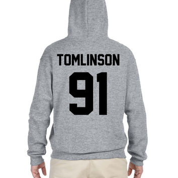 DOB jerzee style hoodie hemmings 96 tomlinson 91 styles 94 or choose any name and number Gray sweatshirt hoodie