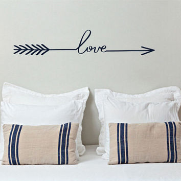 Love Arrow Decal - by Decor Designs Decals, Arrow Decor - Love Arrow Wall Decal - Loved Arrow Wall Art, Sticker Vinyl Wall Decal Sticker, Bedroom Wall Decal, Decals