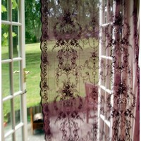 Vintage Inspired Lace Curtains - Various colours available