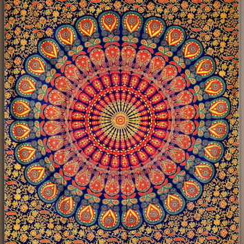 Beautiful  Mandala Hippie Tapestry Wall Hanging, Mandala Tapestry, Mandala Wall Art Mandala Wall Hanging Indian Tapestries Bohemian tapestry