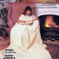 Patons Afghans To Crochet And Knit Vintage Book Crochet And Knit Patterns