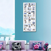 Decorative White Wood Wall Hanging Picture Photo Frame
