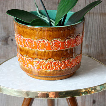 Planter ceramic / flower pot / pot holder / German pottery / vintage 60s 70s / home accessory / decoration