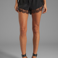 Mason by Michelle Mason Lace Trim Shorts in Black from REVOLVEclothing.com