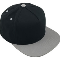 Gray on Black 'Blank Canvas' Snapback with Free Pin