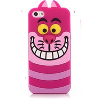 3D Cheshire Cat (Alice in Wonderland) Silicon Phone Cases Cover For iPhone 7 4S 5 5S SE 6 6s Plus