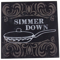 Prinz Simmer Down Plaque Home Decor Kitchen Wall Hanging Saying Sign Frying Pan