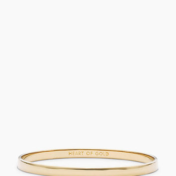 Kate Spade Heart Of Gold Idiom Bangle Gold ONE