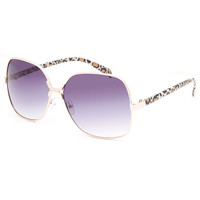 Full Tilt Square Leopard Sunglasses Gold One Size For Women 26184762101