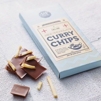 Curry And Chips Milk Chocolate Bar
