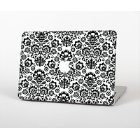 The Black Floral Delicate Pattern Skin Set for the Apple MacBook Air 13""