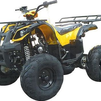 "Ice Bear Big Hunter 125cc ATV Fully Automatic+Reverse Foot Gear Shifter 19"" Big Tires"