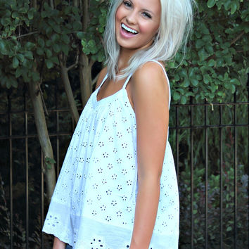 Sweet As Sugar Eyelet Top