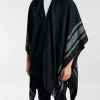 Black Stripe Boarder Cape