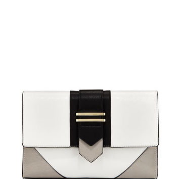Neiman Marcus Mod Colorblock Clutch Bag