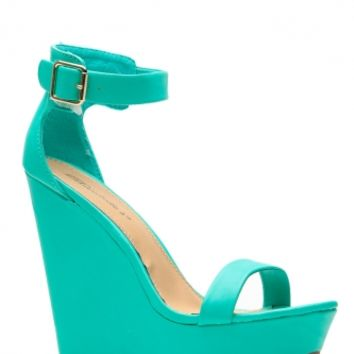 Breckelles Matte Vivi Sea Green Wedge @ Cicihot Wedges Shoes Store:Wedge Shoes,Wedge Boots,Wedge Heels,Wedge Sandals,Dress Shoes,Summer Shoes,Spring Shoes,Prom Shoes,Women's Wedge Shoes,Wedge Platforms Shoes,floral wedges