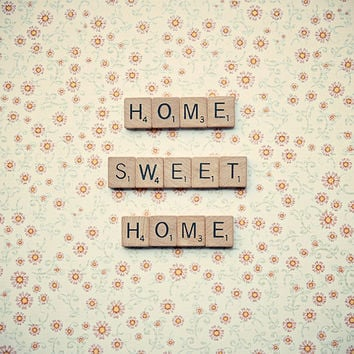 Scrabble letters art home sweet home by RetroLovePhotography