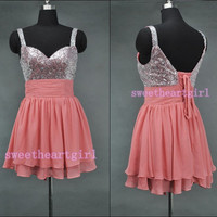 Sweetheart Shinning Beaded Dress Short Prom party Homecoming Dress