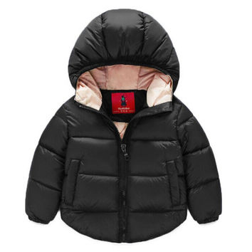 2016 New Baby Boy Jacket Children Outerwear Coat Fashion Boy Coat Baby Girl Jacket  Warm Hooded Children Clothing Kids Clothes