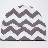Gray Chevron Newborn Hat, Going Home Hat, Stretch Newborn Hat, Receiving Hat, Baby Girl/Boy Hospital Hat, Grey Chevron Hat